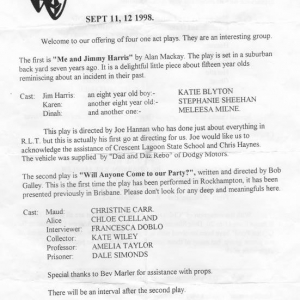 4 x 1 Act Plays 1998