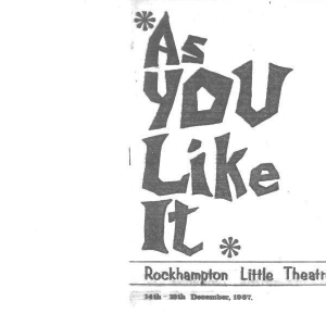 As You Like It Dec 1967