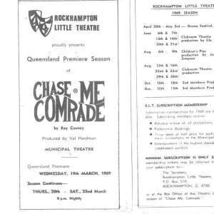 Chase me Comrade March 1969