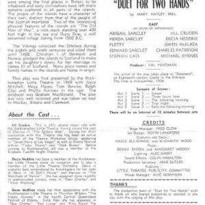 1968 August Duet for 2 Hands200