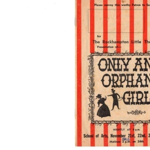 Only an Orphan Girl Nov 1962