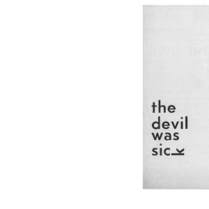 The Devil Was Sick Oct 1968