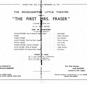 1951 Sept The First Mrs Fraser195